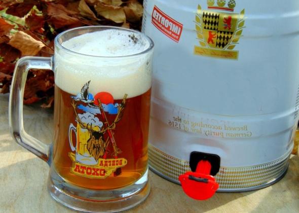 Как открыть бочонок пива 5 литров?