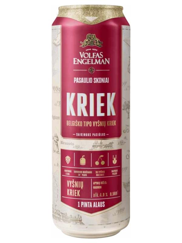 Вольфас Энгельман Крик /  Volfas Engelman Kriek 0,568л. алк.4% ж/б.