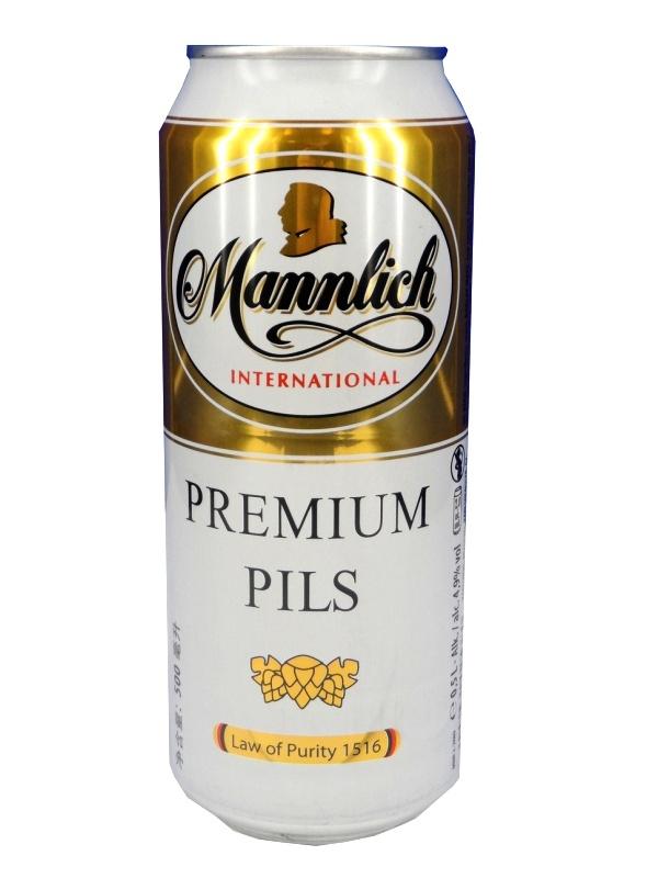 Манлих Интернешнл Премиум Пилс / Mannlich Premium Pils 0,5л. алк.4,9% ж/б.
