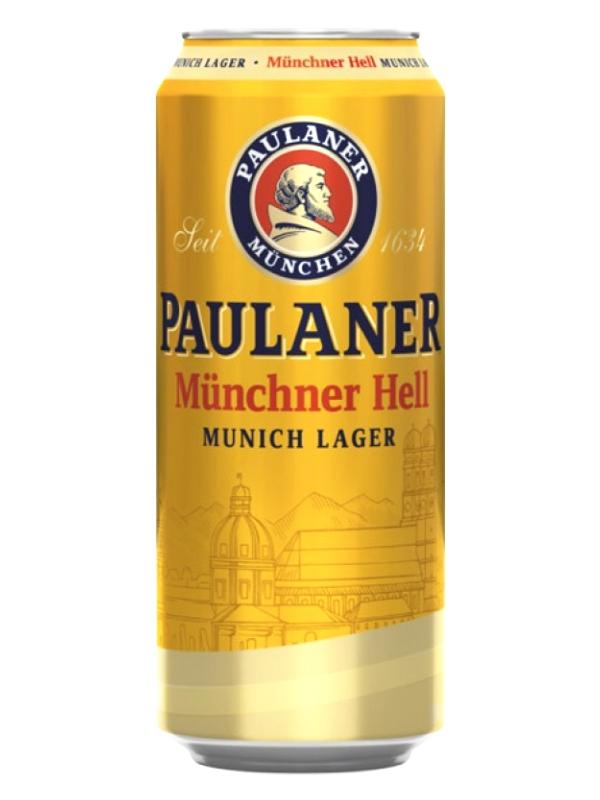 Пауланер Мюнхенский Хель / Paulaner Munchner Hell 0,5л. алк.4,9% ж/б