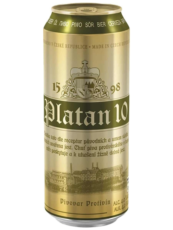 Платан 10 / Platan 10  0,5л. алк.4%