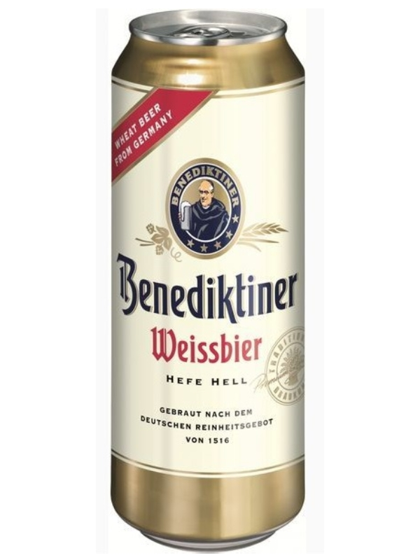 Бенедиктинер Вайсбир / Benediktiner Weissebier 0,5л. алк.5,4% ж/б.