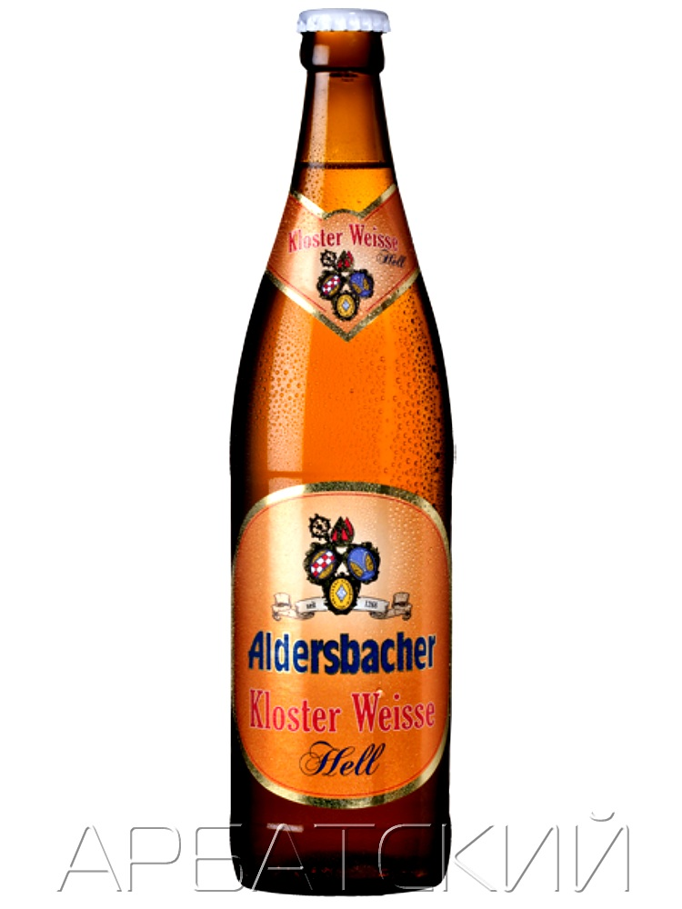 Альдерсбахер Клостер Вайсе Хелл / Aldersbacher Kloster Weisse Hell 0,5л. алк.5,3%