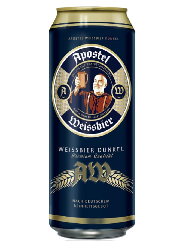 Апостел Вайссбир Дункель / Apostel Weissbier Dunkel 0,5л. алк.5,3% ж/б.