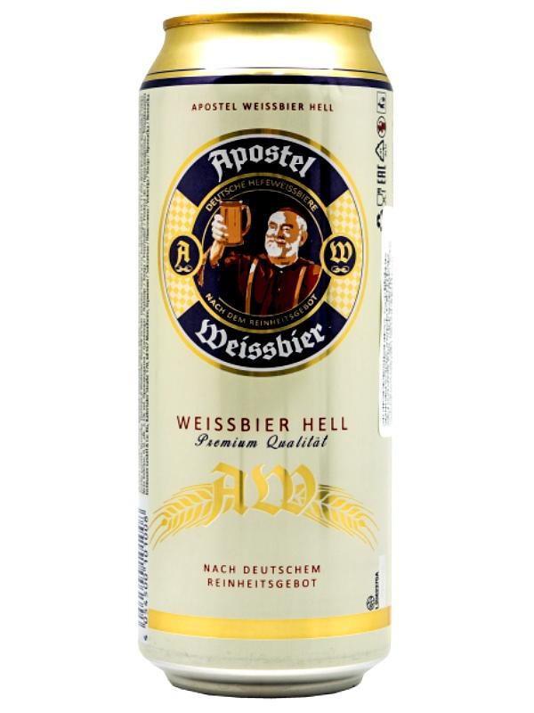 Апостел Вайссбир Хелл / Apostel Weissbier Hell 0,5л. алк.5,3% ж/б.