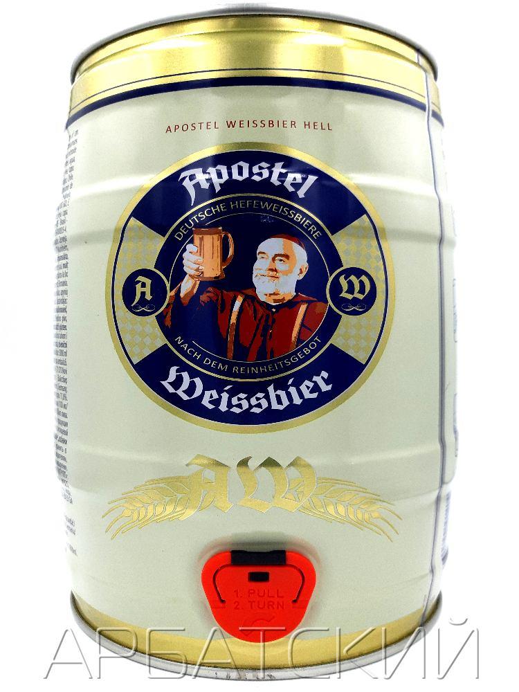 Апостел Вайссбир Хелл / Apostel Weissbier Hell 5л. алк.5,3% ж/б.