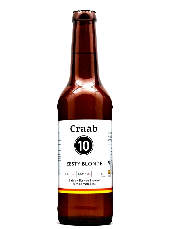 Крааб Зэсти Блонд 10 Зэсти  / Craab 10 Zesty Blonde 0,33л. алк.7%