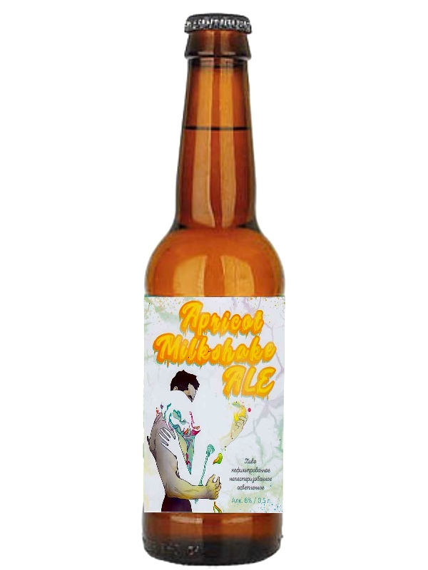Лабиринт светлое 15 Милкшейк / LaBEERint Apricot milkshake ale 0,5л. алк.6%