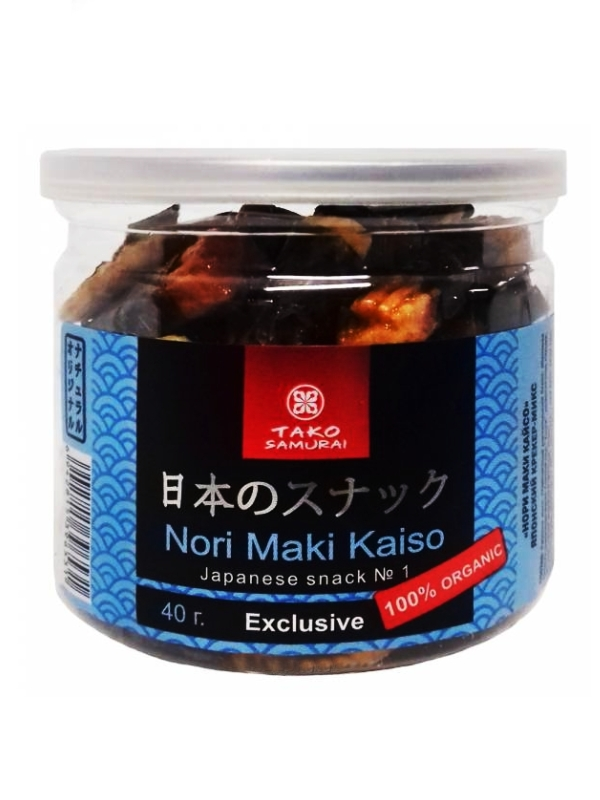 "Японский крекер-микс ""Нори Маки Кайсо"" Тако Самурай, 40гр."