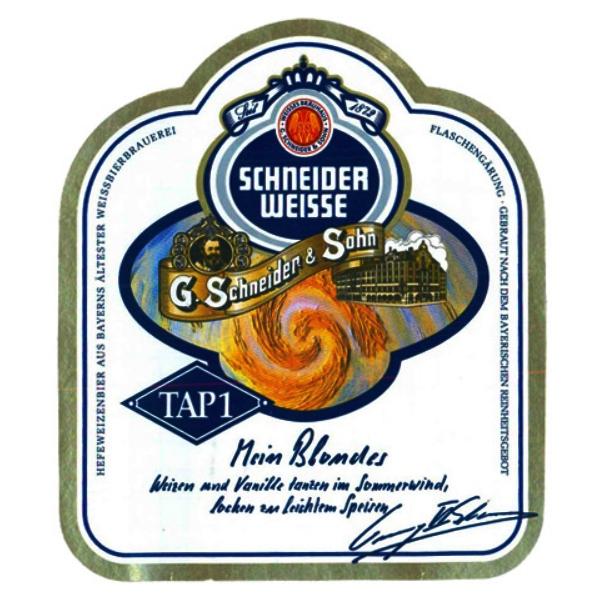 Шнайдер Вайсс ТАП 1 Майне Хелле Вайсс/ Schneider Weisse Tap1 Meine Helle Weisse, keg. алк.5,2%