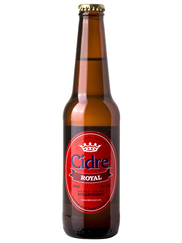 Сидр Роял Медовуха Клубничная / Cidre Royal with Strawberry 0,33л. алк.5%