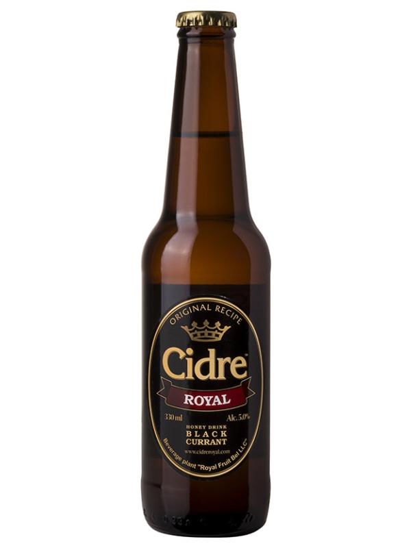 Сидр Роял Медовуха с Черной смородиной / Cidre Royal with Black Currant 0,33л. алк.5%