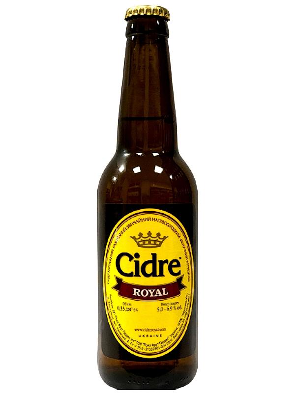 Сидр Роял Яблочный с грушей п/сл / Cidre Royal with Pear 0,33л. алк.5%