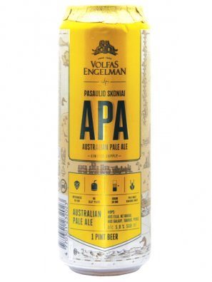 Вольфас Энгельман АПА /  Volfas Engelman APA  0,568л. алк.5% ж/б.
