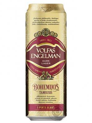 Вольфас Энгельман Богемийос тамсусис /  Volfas Engelman Bohemijos Tamsusis 0,568л. алк.4,2% ж/б.