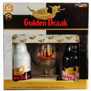 Пивной набор Гулден Драк (0,33л. 2бут.+1бокал) алк.10,5%