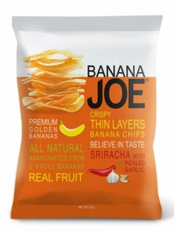 Чипсы Банан Джо со вк. соуса Шрирача чеснок / Banana Joe Sriracha 50гр.