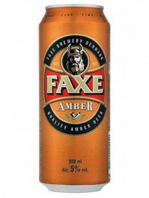 Факс Амбер / Faxe Amber 0,5л. алк.5% ж/б.