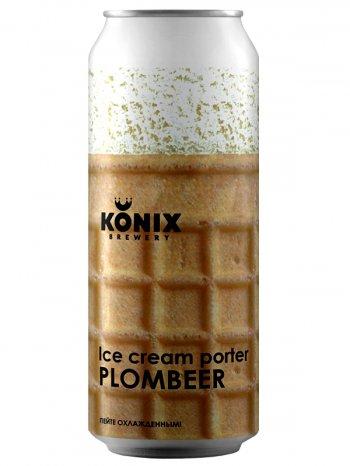 Коникс Портер мороженое Пломбир/Konix Ice Cream Porter Plombeer 0,5л. алк.7% ж/б.