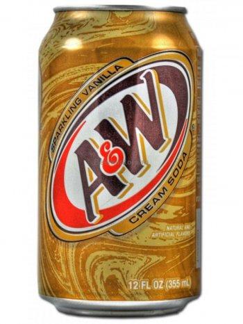 Напиток A&W Крем Сода / A&W Cream Soda 0,355л.