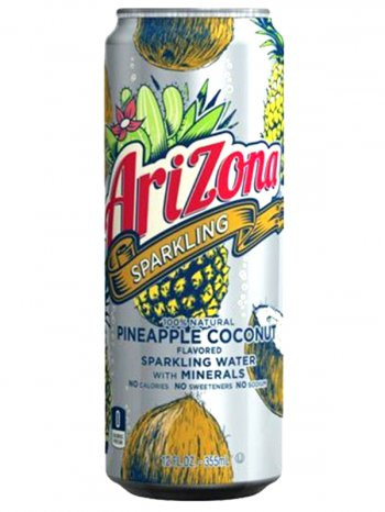 Напиток Аризона Ананас Кокос /  Arizona Sparkling Water + Minerals Pinepple Coconut 0.355л.
