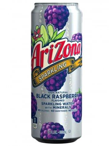 Напиток Аризона Ежевика / AriZona Sparkling Water + Minerals Black Raspberry 0,355л.