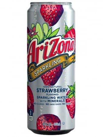 Напиток Аризона Клубника /  Arizona Sparkling Water + Minerals Strawberry 0,355л.