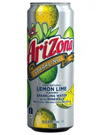 Напиток Аризона Лимон Лайм / Arizona Sparkling Water + Minerals Lemon Lime 0,355л.