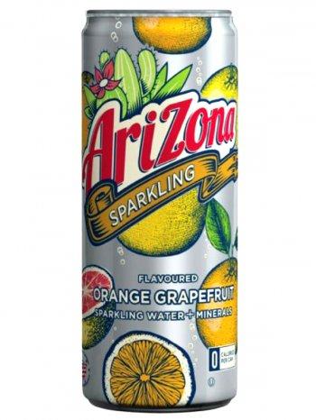 Напиток Аризона Оранжевый Грейпфрут / Arizona Sparkling Water + Minerals Orange Grapefruit 0.355л.