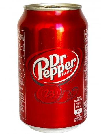 Напиток Доктор Пеппер Регулар / Dr. Pepper Regular 0,33л. ж/б.
