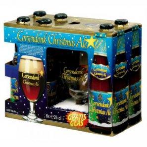 Пивной набор Корсендонк Рождественский эль / Сorsendonk Сhristmas Ale (6бут. 0,25л.+бокал) алк.8,5%