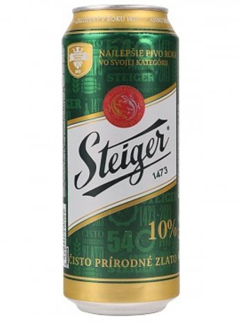 Штайгер 10% Светлый / Steiger 10% Svetly 0,5л. алк.4,1% ж/б.