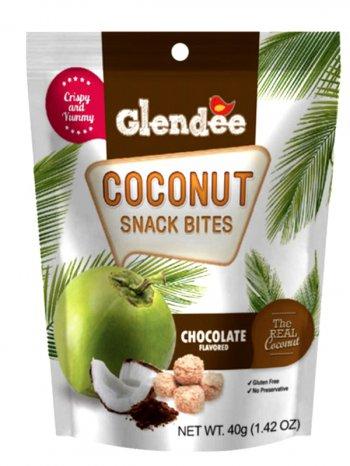 Снеки Кокосовые Гленди со вкусом шоколада / GLENDEE Chocolate 40гр.