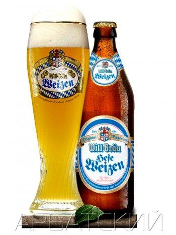 Вилл-Брау Вайсс /  Will-Brau Heffe Weizen 0,5л. алк.5,6%