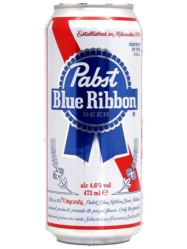 Пабст Блю Риббон / Pabst Biue Ribbon 0,5л. алк.4,7% 24ж/б.