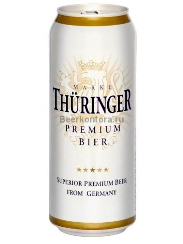 Турингер Вайссбир / Thuringer Weissier 0,5л. алк.4,9% ж/б.