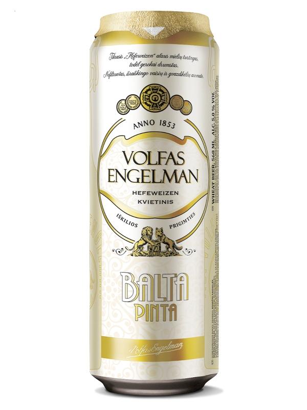 Вольфас Энгельман Балта пинта / Volfas Engelman Balta Pinta 0,568л. алк.5% ж/б.