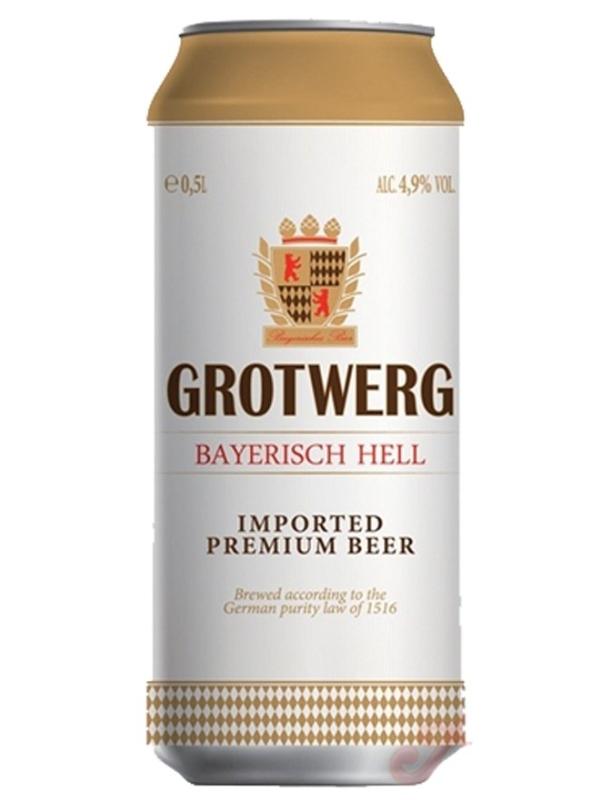 Гротверг Байриш Хель / Grotwerg Bayerisch Hell 0,5л. алк.4,9% ж/б.
