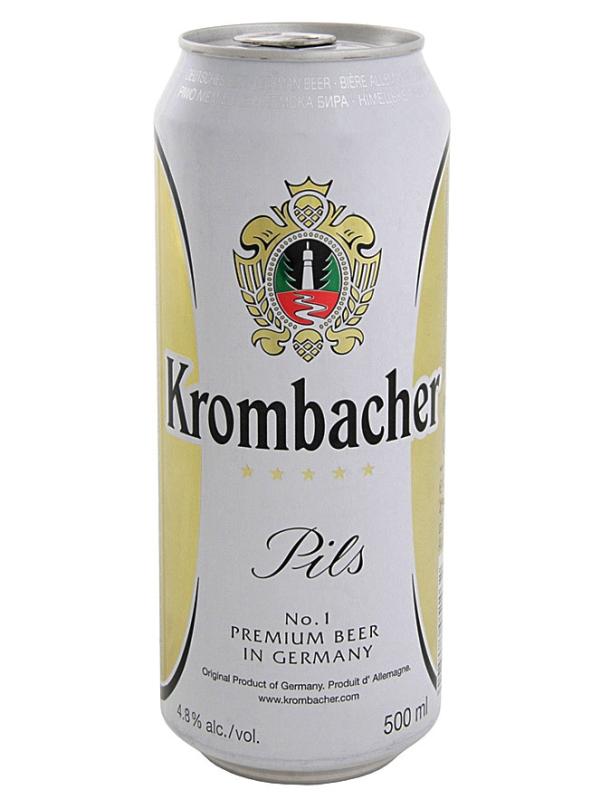 Кромбахер Пилс / Krombacher Pils 0,5л. алк.4,8% ж/б.