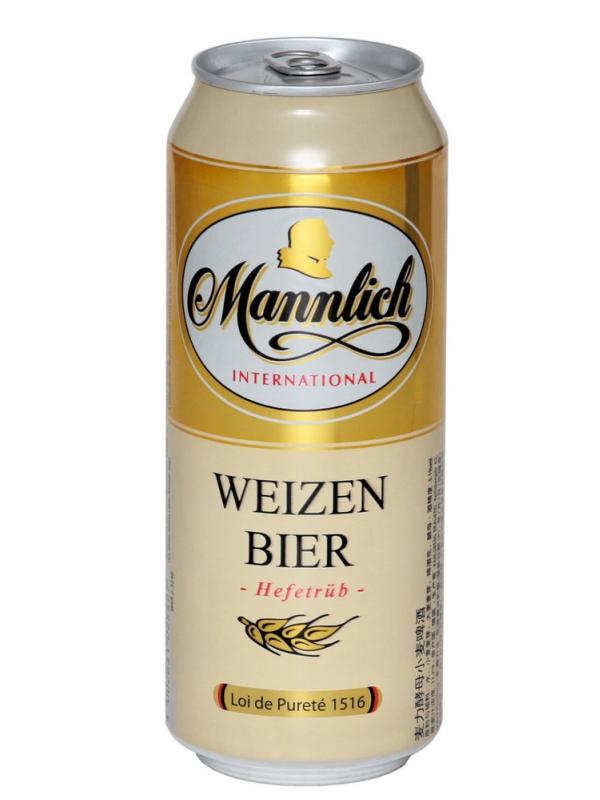 Манлих Интернешнл Вайзен бир / Mannlich Weizen Bier 0,5л. алк.5,1% ж/б.