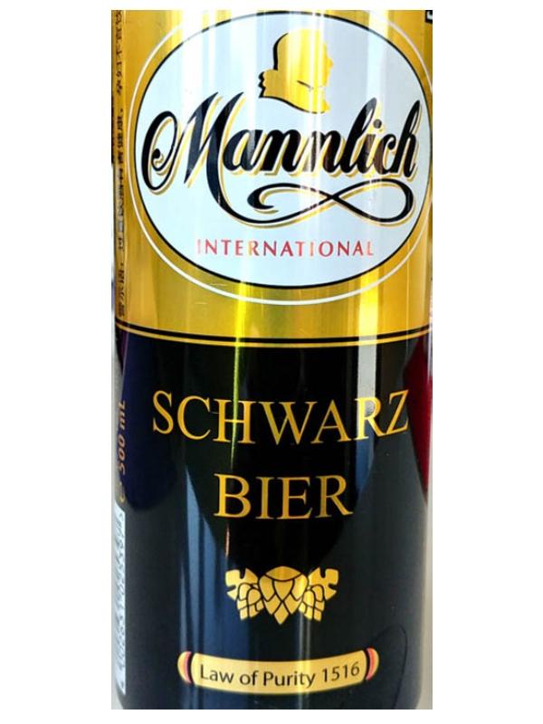 Манлих Интернешнл Шварц Бир / Mannlich Schwarz Bier 0,5л. алк.4,7% ж/б.