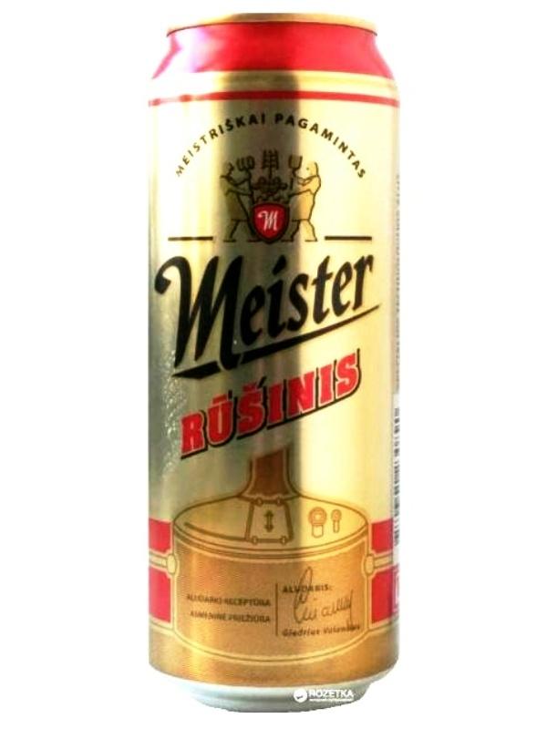 Мейстер Рушинис / Meister Rusinis 0,5л. алк.5,2% ж/б.