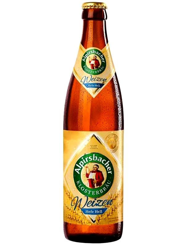 Алпирсбахер Клостербой Вайзен Хефе Хелл/Alpirsbacher klosterbraeu Weizen Hefe Hell 0,5л. алк.5,5%