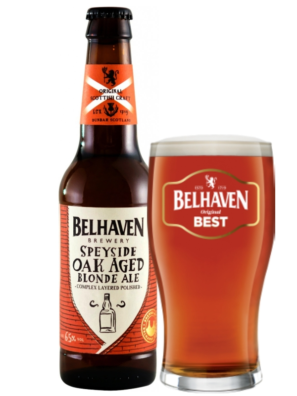 Белхеван Спейсайд Оак Эиджед Блонд / Belhaven Speyside Oak Aged Blonde Ale 0,33л. алк.6,5%