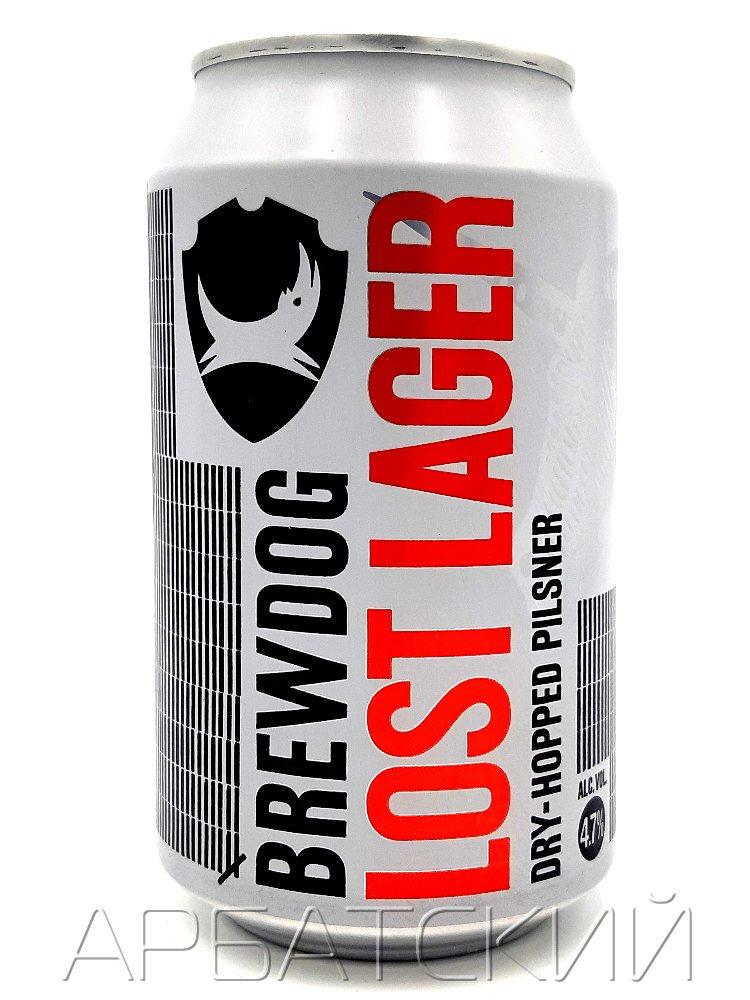 Брюдог Лост Лагер - BrewDog Lost Lager 0,33л. алк.4,7% ж/б.