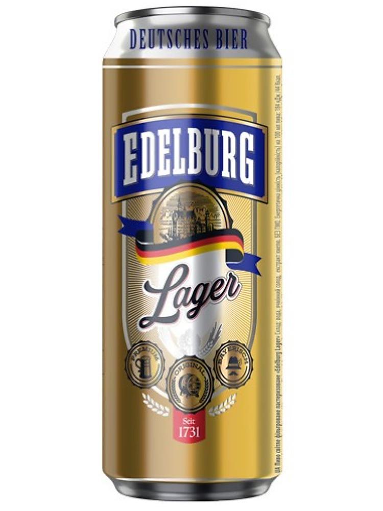 Эдельбург Лагер / Edelburg Lager 0,5л. алк.5,2% ж/б.