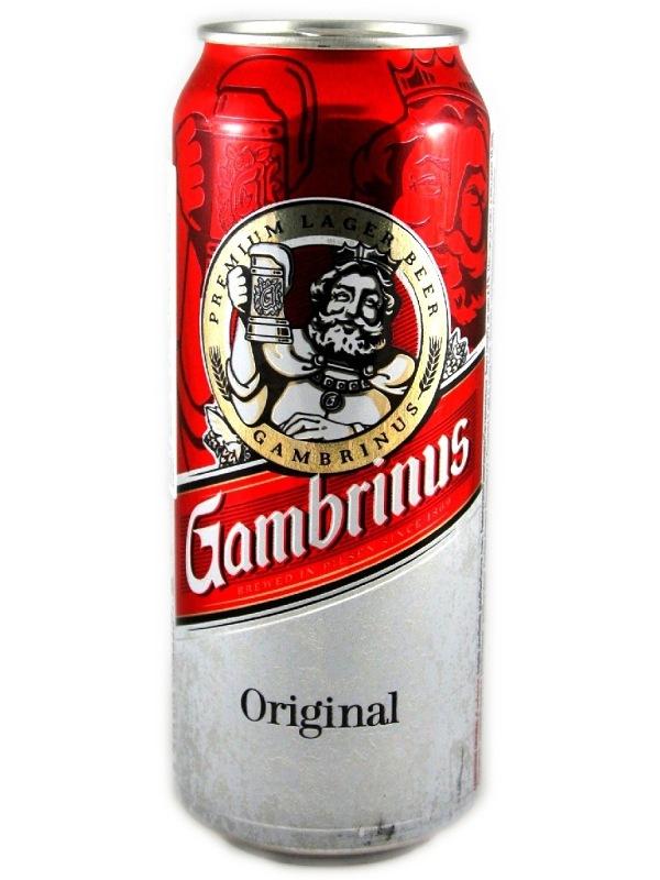 Гамбринус Ориджинал / GAMBRINUS Original 0,5л. алк.4,3% ж/б.