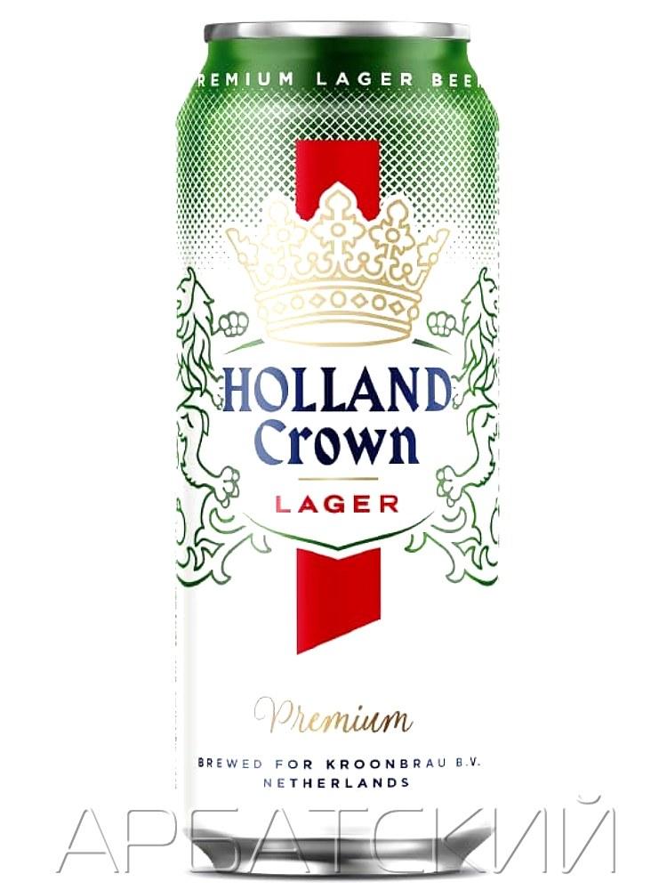 Холланд Краун Премиум / Holland Crown Premium 0,5л. алк.4,8% ж/б.