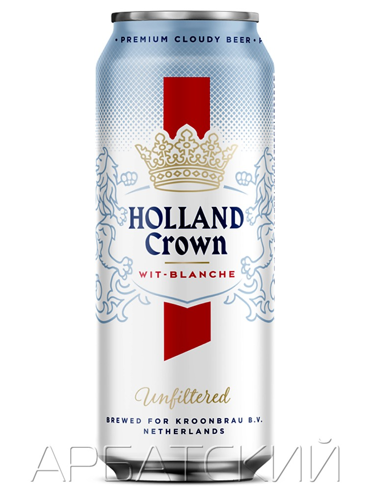 Холланд Краун Вит Бланш / Holland Crown Wit blance 0,5л. алк.5% ж/б.