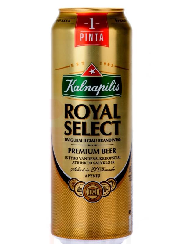 Калнапилис Роял Селект / Kalnapilis Royal Select 0,568л. алк.5,6% ж/б.
